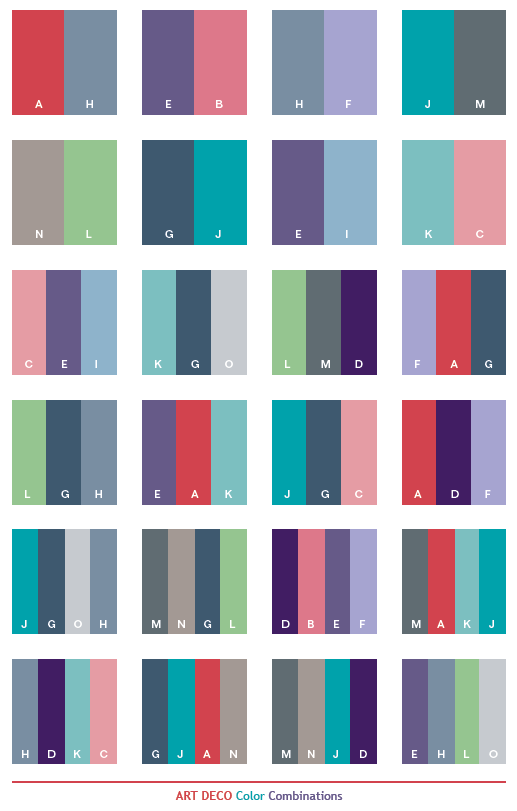 art deco color schemes color combinations color palettes for print