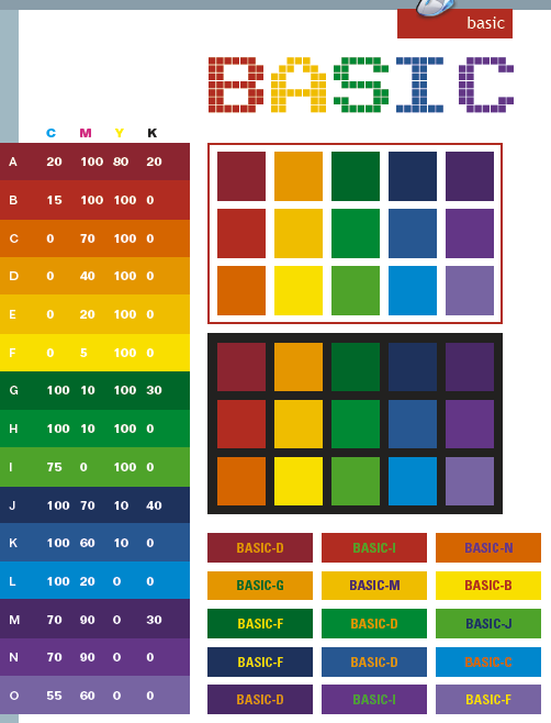 Basic Color Schemes Combinations Palettes For Print