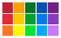 Basic Color Combinations. Basic Web Palettes