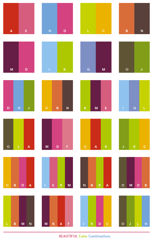 Beautiful Color Schemes Combinations Palettes For