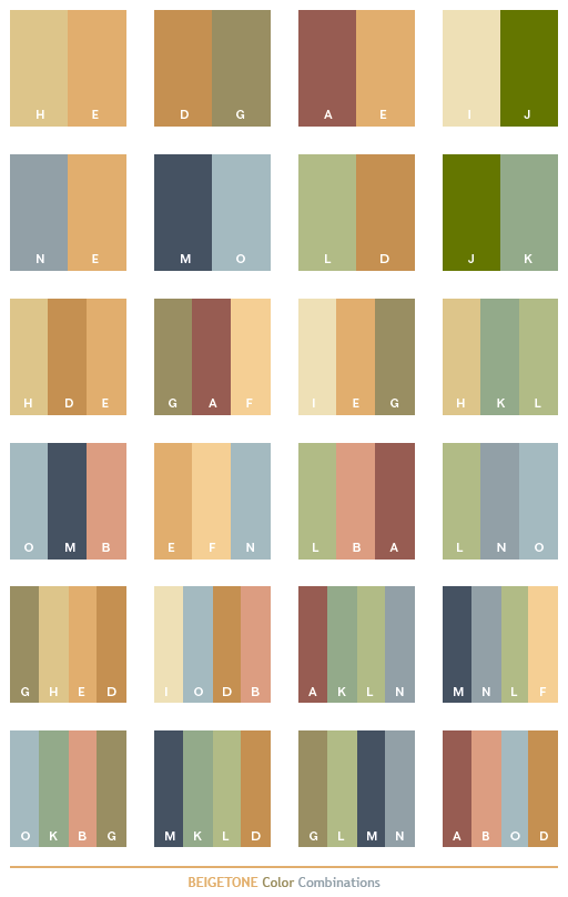 Beige tone color schemes, color combinations, color palettes for print ...