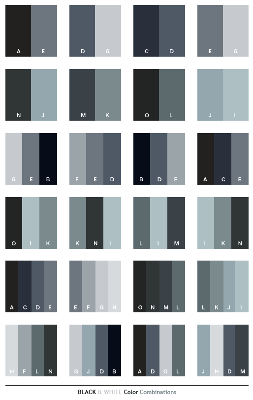 Black White Color Schemes Color Combinations Color