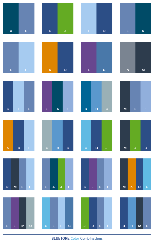 Blue tone color schemes color combinations color - What colors compliment blue ...