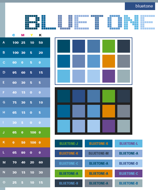 Blue Tone Color Schemes, Color Combinations, Color