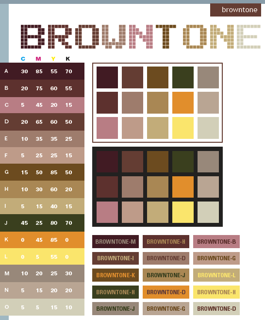 brown tone color schemes, color combinations, color palettes for
