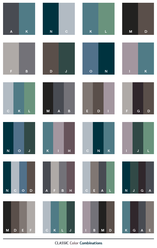 Classic color combinations