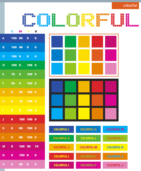 Colorful Color Schemes Combinations Palettes For