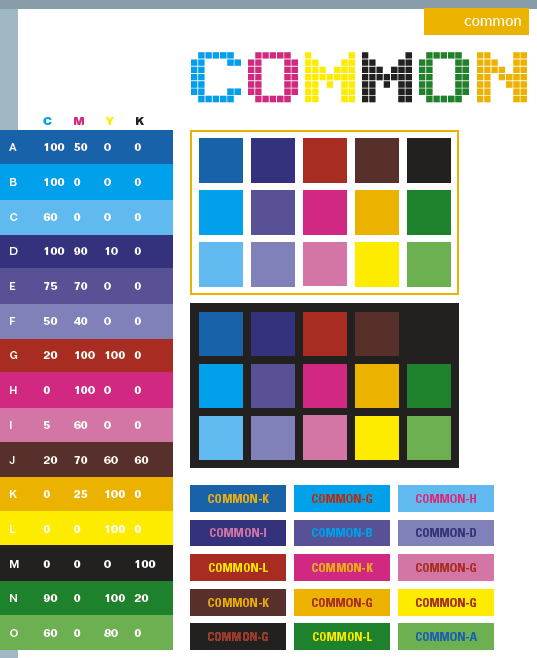 common color schemes, color combinations, color palettes for print
