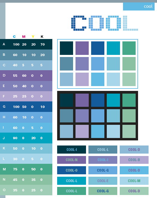 Cool Color Schemes Combinations Palettes For Print