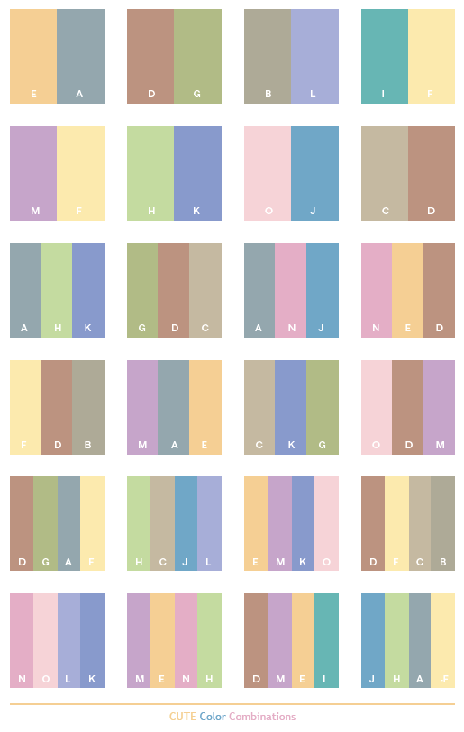 cute color schemes color combinations color palettes for print