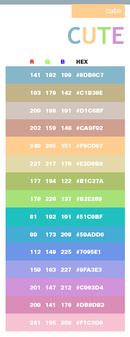 Index of resources free color schemes images Color combinations numbers