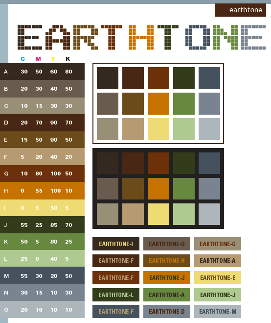 Earth Tone Color Scheme Web Colors
