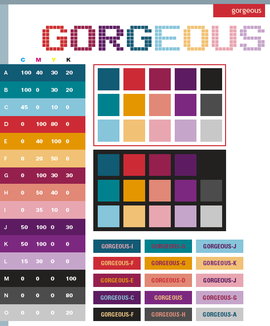 Gorgeous Color Schemes Combinations Palettes For