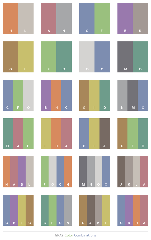 gray tone color schemes color combinations color