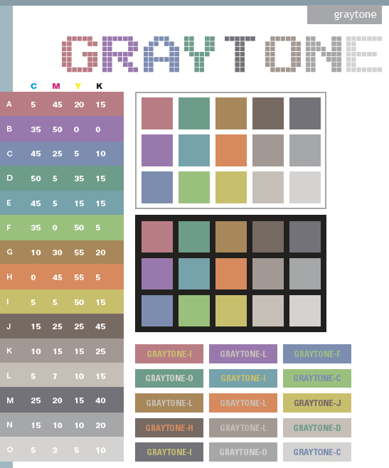 Gray Tone Color Scheme