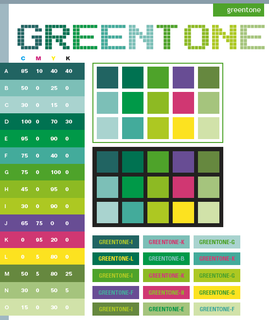 Green Tone Color Schemes, Color Combinations, Color