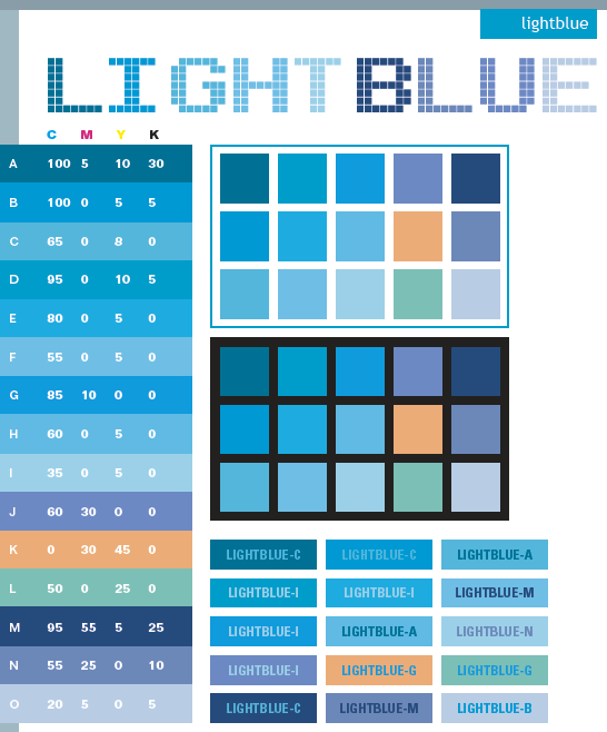Light Blue Colour Palette Images