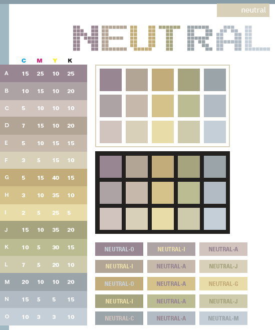 Neautral Colors neutral color schemes, color combinations, color palettes for