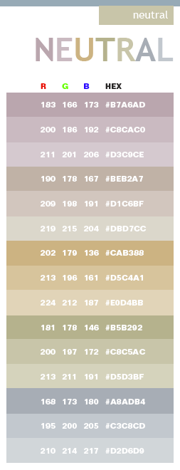 Neutral color schemes color combinations color palettes for What are neutral colors