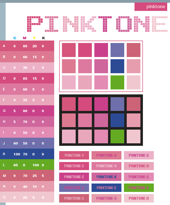 Pink tone color schemes color combinations color Good color combination for pink