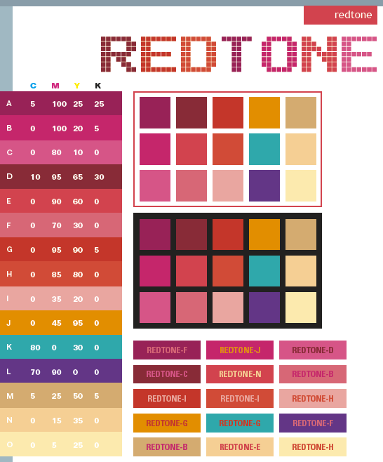 Tone On Tone Color red tone color schemes, color combinations, color palettes for