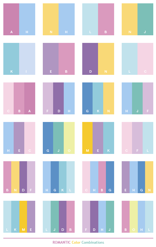 pastel color scheme romantic color combinations