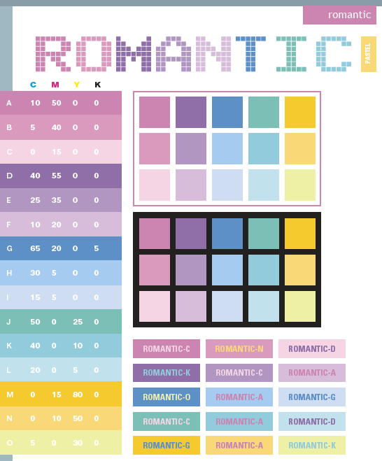 Romantic color schemes color combinations color palettes Color combinations numbers