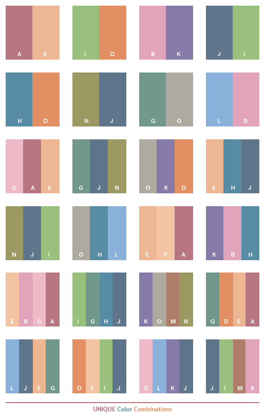 Unique Color Schemes Combinations Palettes