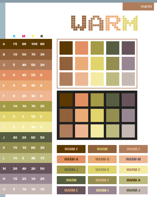 Warm Color Schemes Combinations Palettes For Print