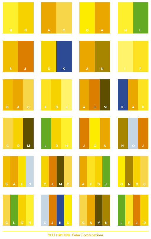 Yellow tone color combinations