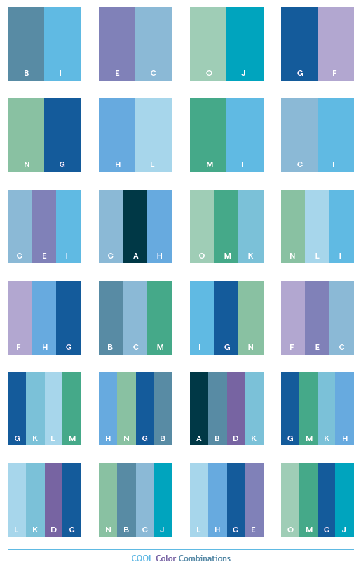 Cool Color Schemes Combinations Palettes For Print And Graphic Design Cmyk Values