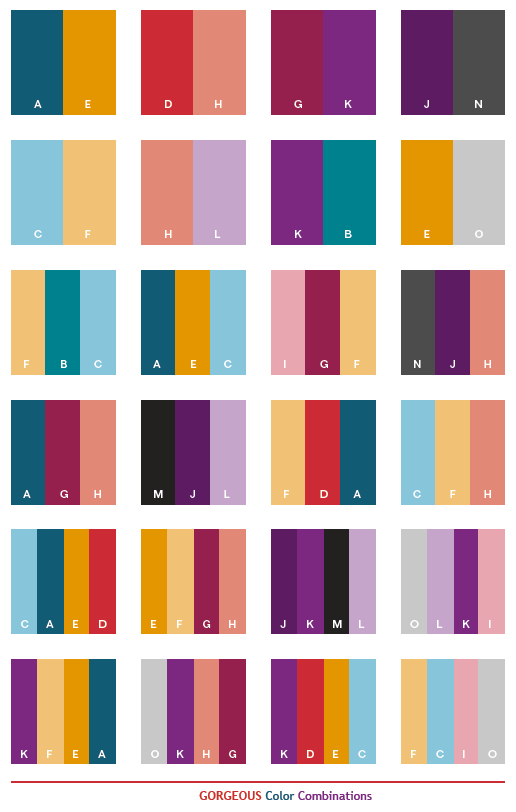 Gorgeous Color Schemes Color Combinations Color Palettes For Print Cmyk And Web Rgb Html