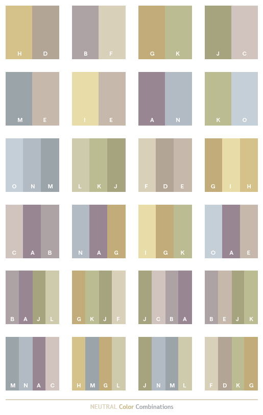Neutral Color Schemes Combinations Palettes For Print And Graphic Design Cmyk Values
