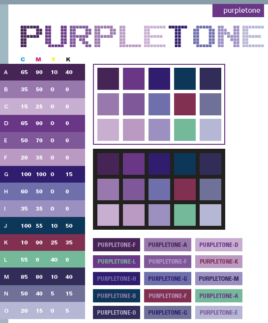 Purple Tone Color Scheme